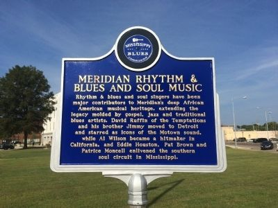 Meridian Rhythm & Blues and Soul Music Marker (Front) image. Click for full size.