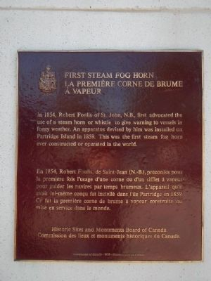 First Steam Fog Horn Marker image. Click for full size.