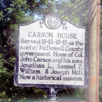 Carson House Marker image. Click for full size.