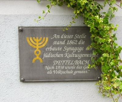 Dettelbach Synagogue Marker image. Click for full size.