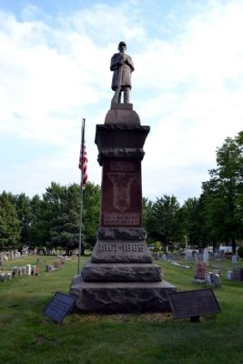 Michigan City Civil War Memorial image. Click for full size.