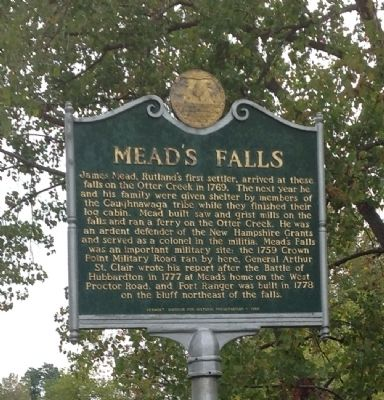Mead's Falls Marker image. Click for full size.