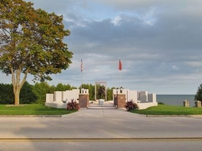 Nearby Algoma Fire and Rescue Memorial image. Click for full size.