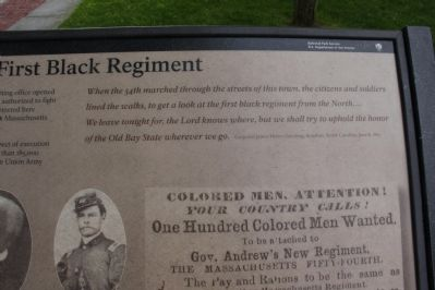 Civil War's First Black Regiment Marker image. Click for full size.