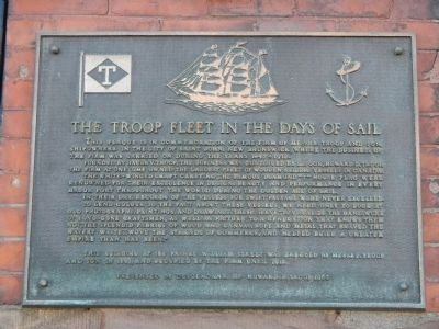 The Troop Fleet in the Days of Sail Marker image. Click for full size.