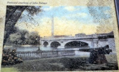 1918 Postcard of Park Cannon,<br>Jefferson Street Bridge, and Standpipe image. Click for full size.