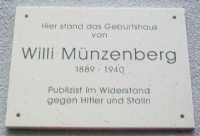 Willi Münzenberg Marker image. Click for full size.