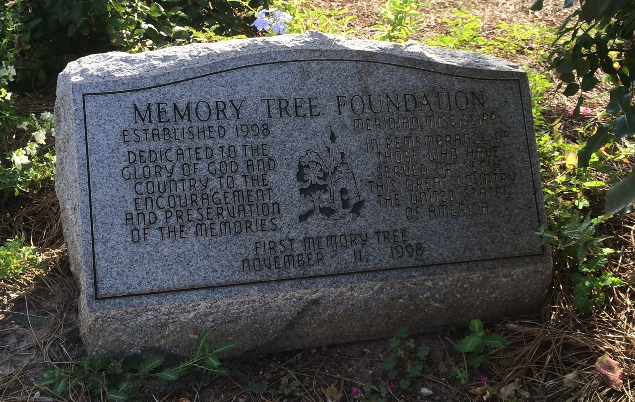 Another nearby marker shows Doughboy Statue in the stone.