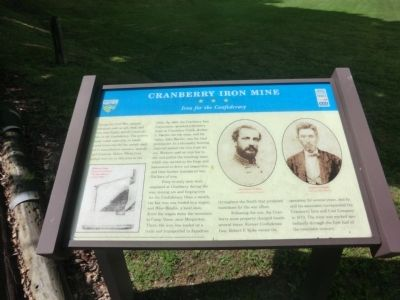 Cranberry Iron Mine Marker image. Click for full size.