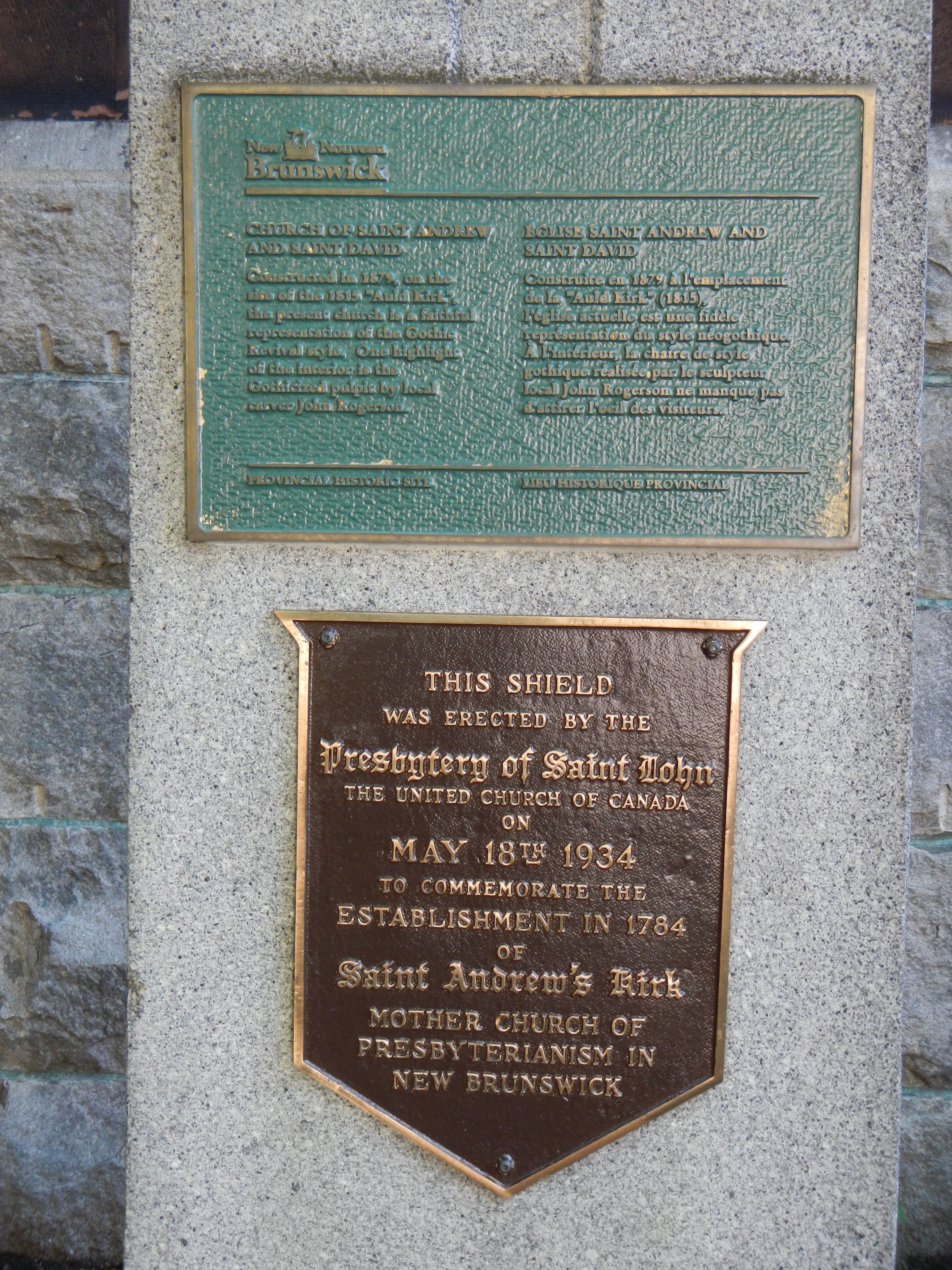 Church of Saint Andrew and Saint David Marker