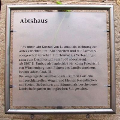 Abtshaus / Abbot's House Marker image. Click for full size.