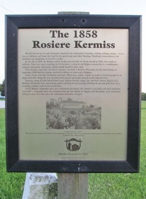 The 1858 Rosiere Kermiss Marker image. Click for full size.