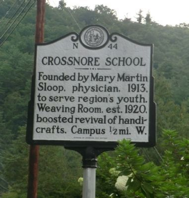 Crossnore School Marker image. Click for full size.