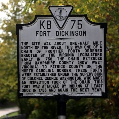 Fort Dickinson Marker image. Click for full size.