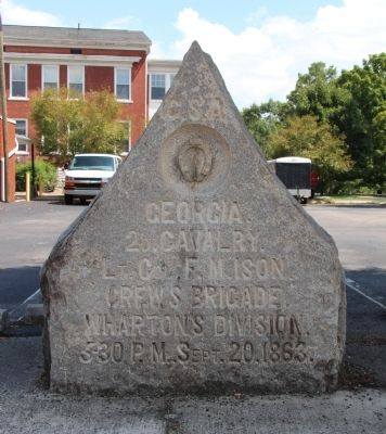 2nd Georgia Cavalry Marker image. Click for full size.