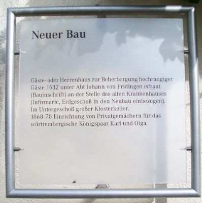 Neuer Bau / New Construction Marker image. Click for full size.