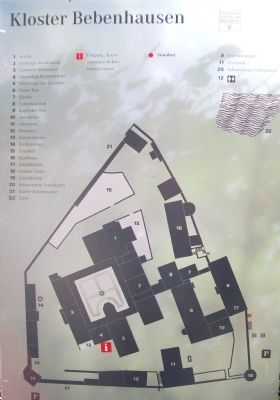 Bebenhausen Map and Key image. Click for full size.