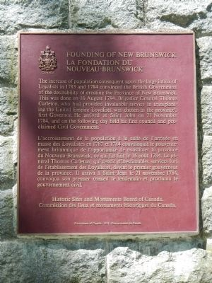Founding of New Brunswick Marker image. Click for full size.