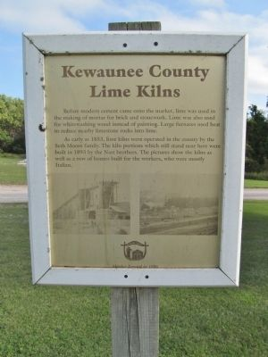 Kewaunee County Lime Kilns Marker image. Click for full size.