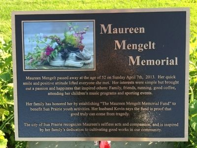Maureen Mengelt Memorial Marker image. Click for full size.