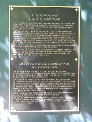 King Edward VII Memorial Bandstand Marker image. Click for full size.