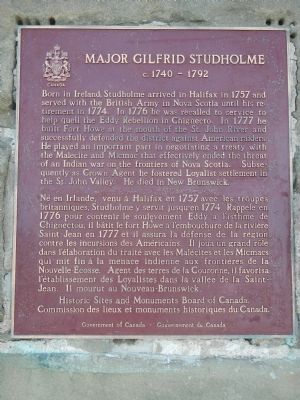 Major Gilfrid Studholme Marker image. Click for full size.