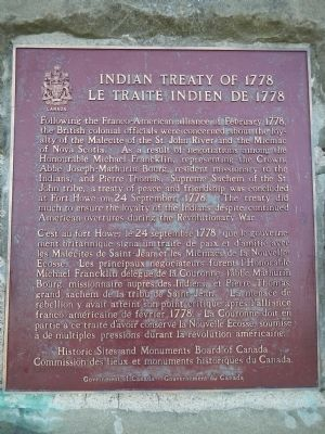 Indian Treaty of 1778 Marker image. Click for full size.