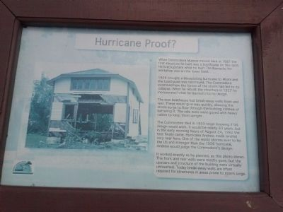 Barnacle Boathouse Marker - Hurricane Proof? image. Click for full size.