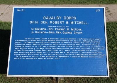 Cavalry Corps. Marker image. Click for full size.