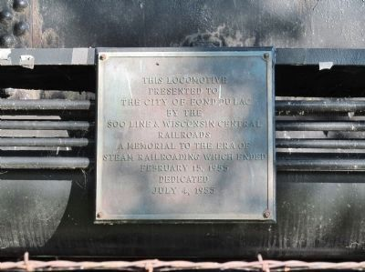 Locomotive No. 2714 Dedication Plaque image. Click for full size.