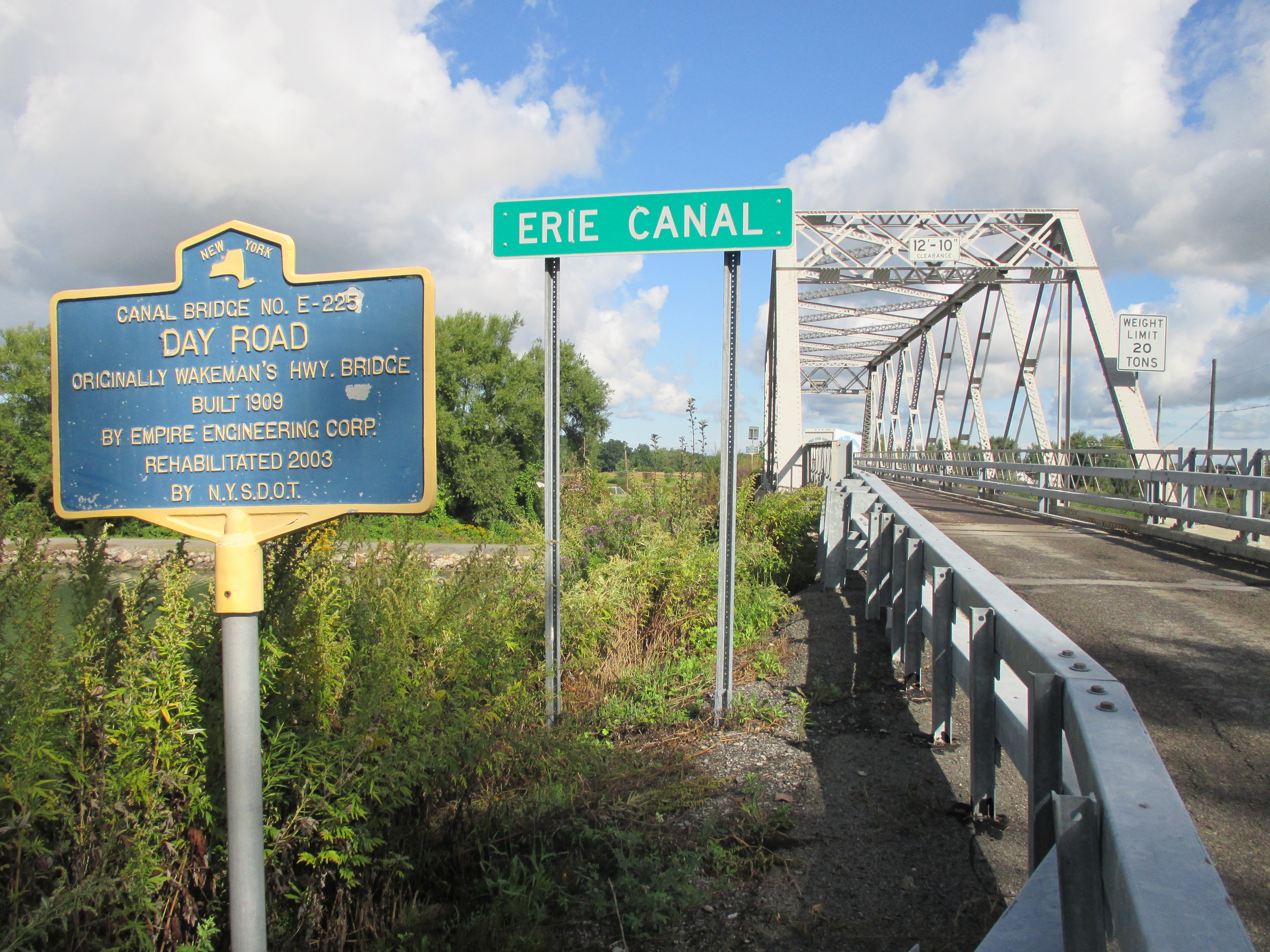 Canal Bridge No. E-225 Marker