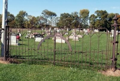 Silver Island Cemetery Front Gate image. Click for full size.