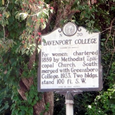 Davenport College Marker image. Click for full size.