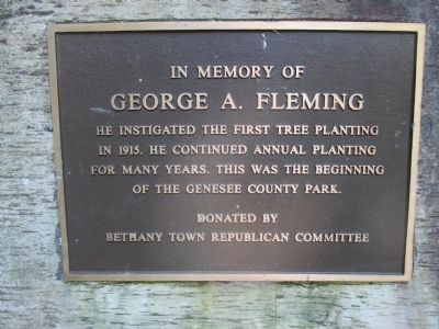 In Memory of George F. Fleming Marker image. Click for full size.