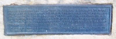 California and Oregon Trails Memorial Marker image. Click for full size.