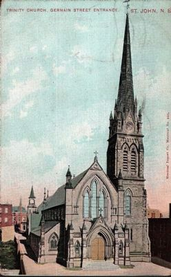 <i>Trinity Church, Germain St. Entrance, St. John, N.B.</i> image. Click for full size.
