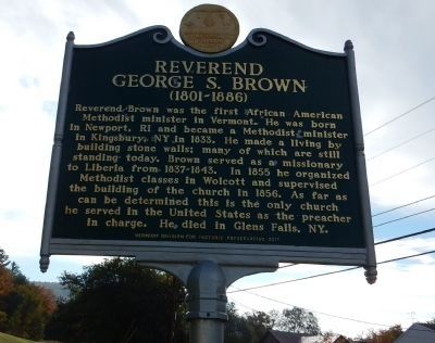 Reverend George S. Brown Marker image. Click for full size.