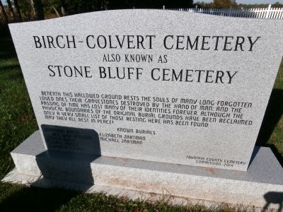 Birch - Colvert Cemetery Marker image. Click for full size.