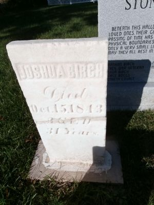 Joshua Birch - Cemetery Marker image. Click for full size.