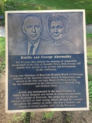 Estelle and George Abernathy Marker image. Click for full size.