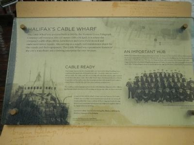 Halifax's Cable Wharf Marker image. Click for full size.