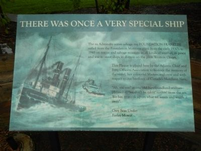 There Was Once a Very Special Ship Marker image. Click for full size.