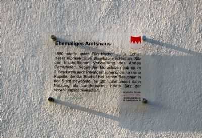 Ehemaliges Amtshaus Marker image. Click for full size.