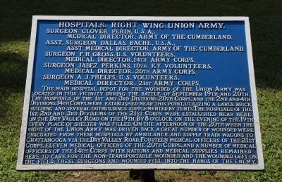 Hospitals, Right Wing, Union Army. Marker image. Click for full size.