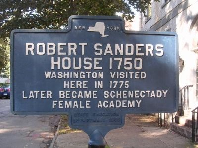 Robert Sanders House 1750 Marker image. Click for full size.