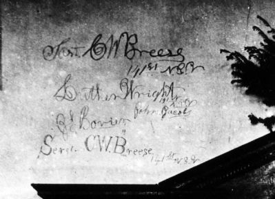 Soldier Graffiti in the Church image. Click for full size.