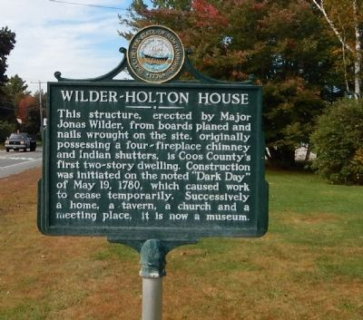 Wilder-Holton House Marker image. Click for full size.