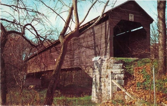 Old Covered Bridge, Meems Bottom, Virginia image. Click for full size.