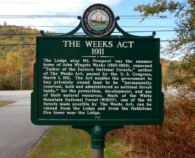 The Weeks Act Marker image. Click for full size.