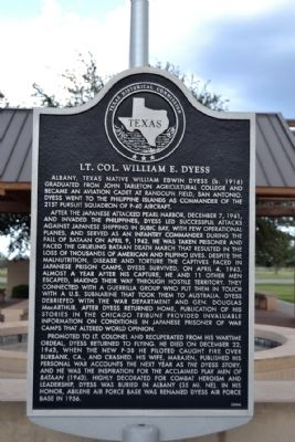 Lt. Col. William E. Dyess Marker image. Click for full size.